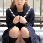 【小波風】冬服セーラー服のパイパン美少女に中出し ~カリビアンコム~