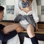 【椎名そら】ショートヘアの美貧乳な美少女と制服着衣のままえっちする ~S-Cute~
