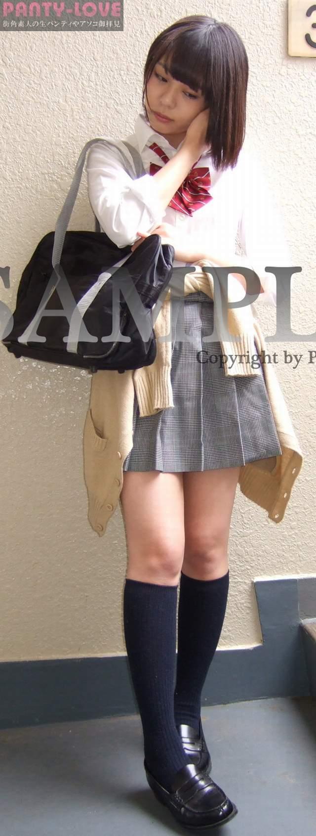 【みふゆ】ショートヘアの可愛いロリ美少女の制服パンチラ~PANTY-LOVE~