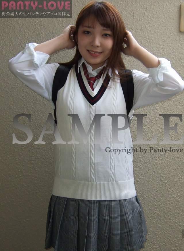【もゆ】真っ赤なセクシーなパンティをパンチラする女子校生 ~PANTY-LOVE~