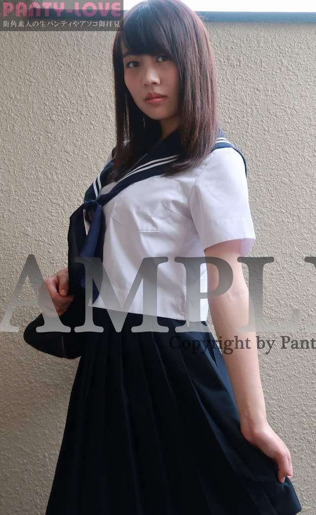 【さら】セーラー服に紺ハイソの美少女のパンチラ ~PANTY-LOVE~