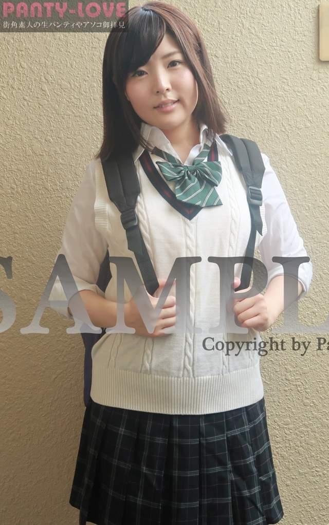 【るりの】ふっくらした顔が可愛い女子高生の制服パンチラ ~PANTY-LOVE~